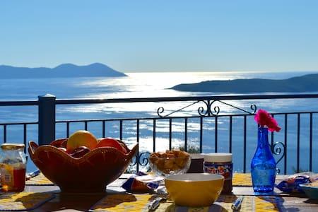Villas Balcony, Endless Sea View  - Apollonioi