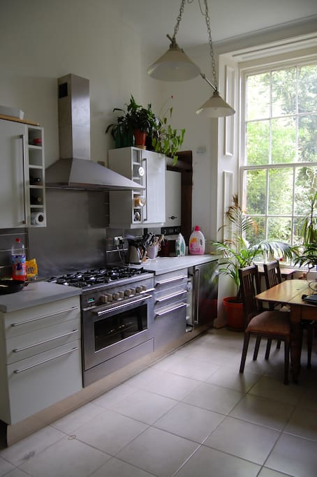 Dining kitchen with views to gardens