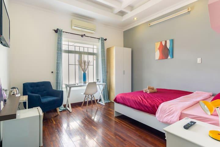 BenThanh市场步行1分钟❤️舒适私人房间带私人卫生间