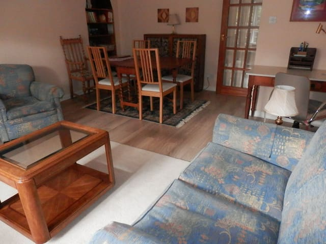 Living room showing dining area