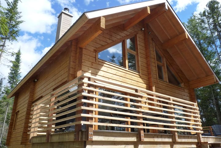 Luxurous Urban Log Cabin on Lake - Saint-Alexis-des-Monts - Chalupa