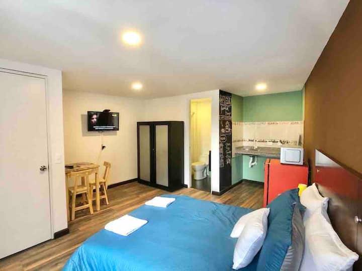 Hotel Hermosa hab. Baño y cocina Chapinero Alto,