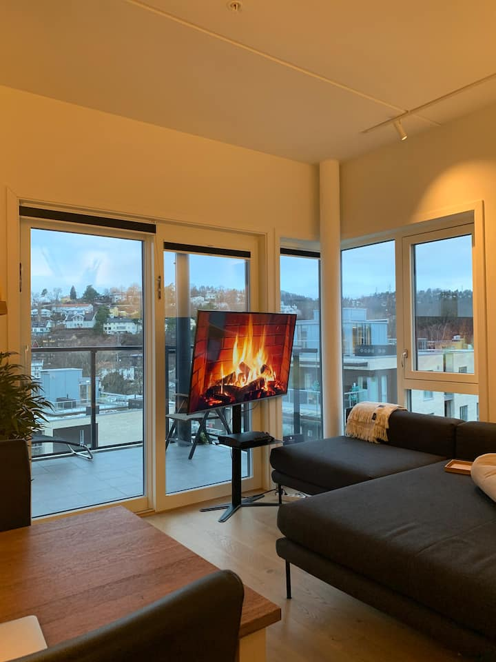 Brand new apartment with great view at Skøyen!