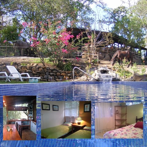Two rooms with kitchenette on Horse Farm with pool - San Rafael Abajo - Lägenhet
