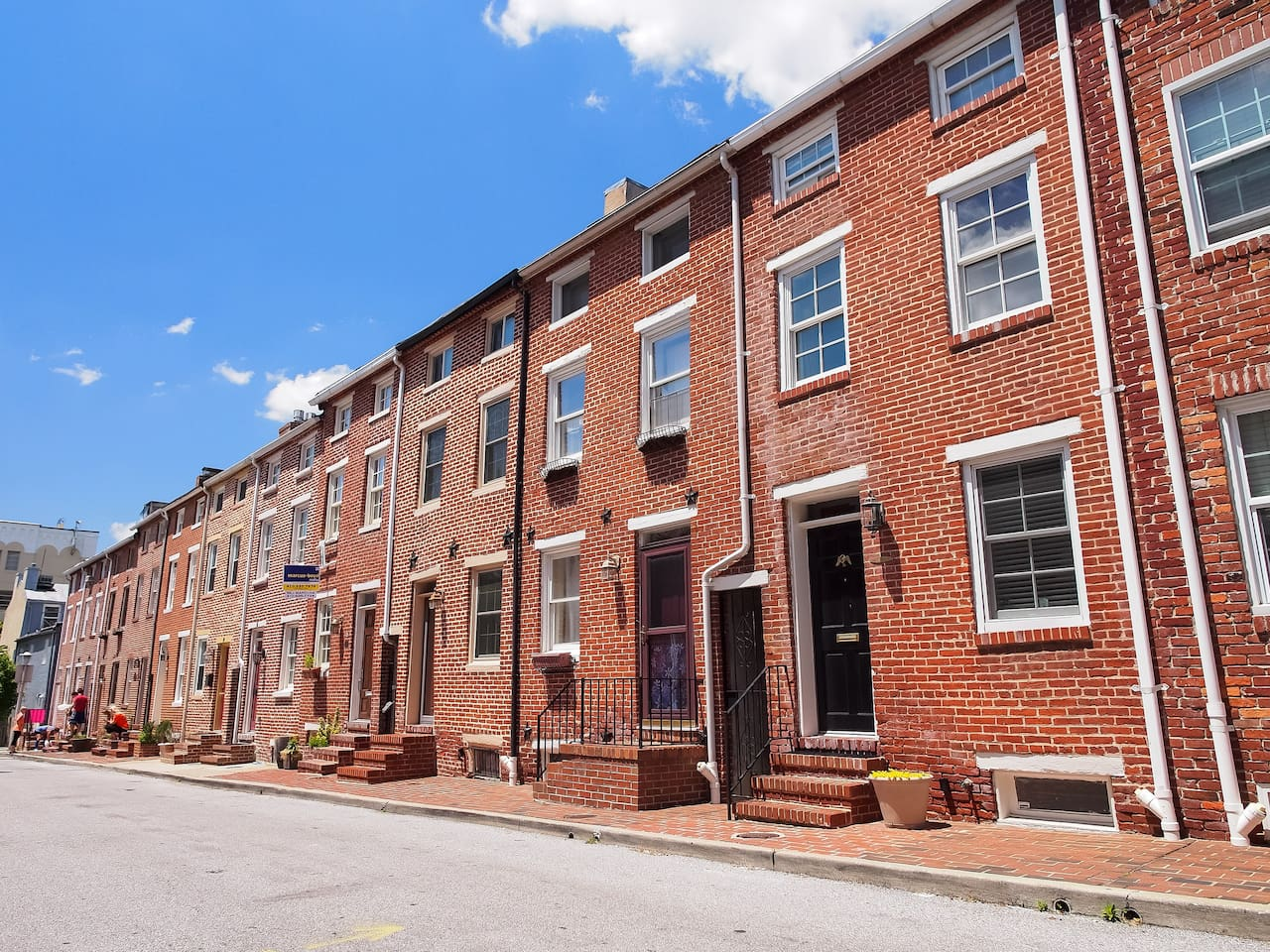 Historic rowhouse of Baltimore.  Enjoy stoop sitting with the rest of Baltimore.