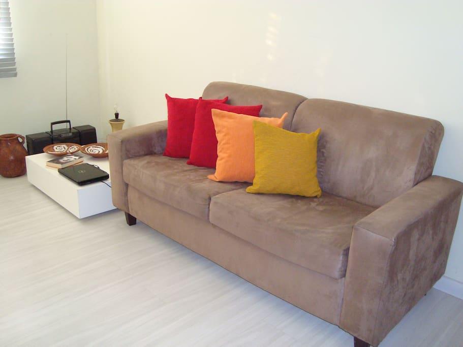 Sala para relaxar, acessar internet (wi-fi)