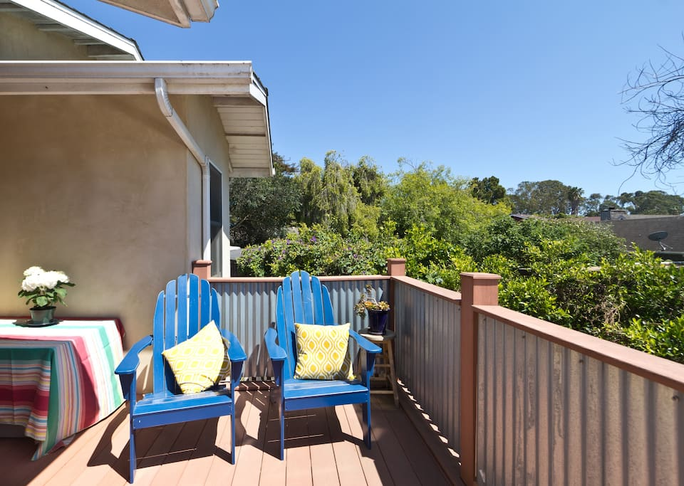 Private deck off Master suite. Great afternoon sunshine!