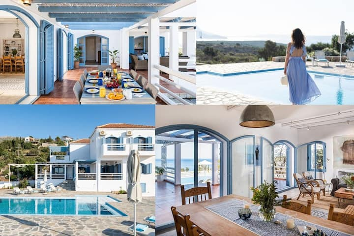 Luna, large airy villa with private pool