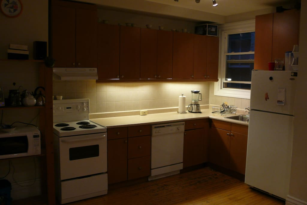 Full access to a kitchen,