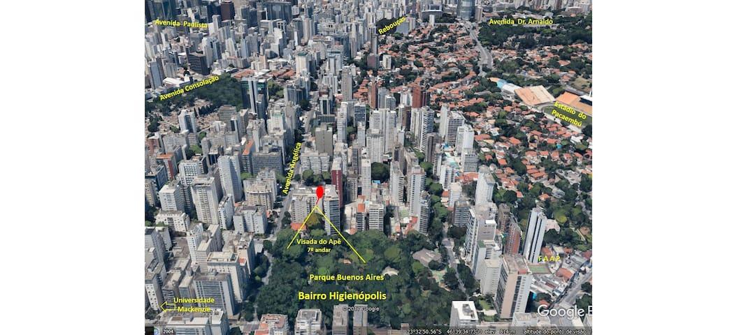 Higienópolis, São Paulo - Clean e espaçoso