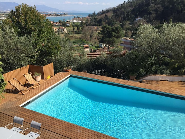 Villa Madreperla 10P, pool BBQ WiFi near 5 Terre