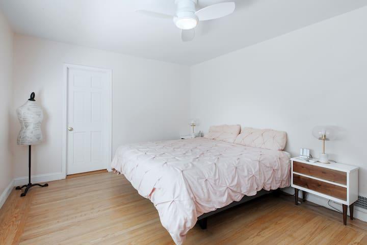 Master Bedroom - King bed with adjustable base.