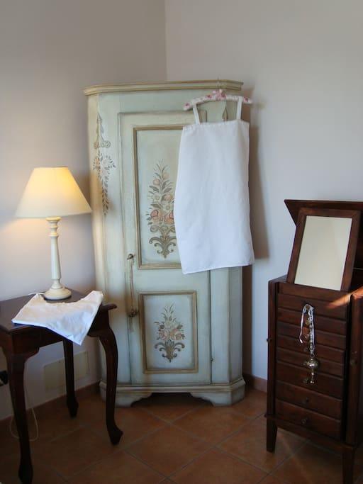 Romantico angolo della suite