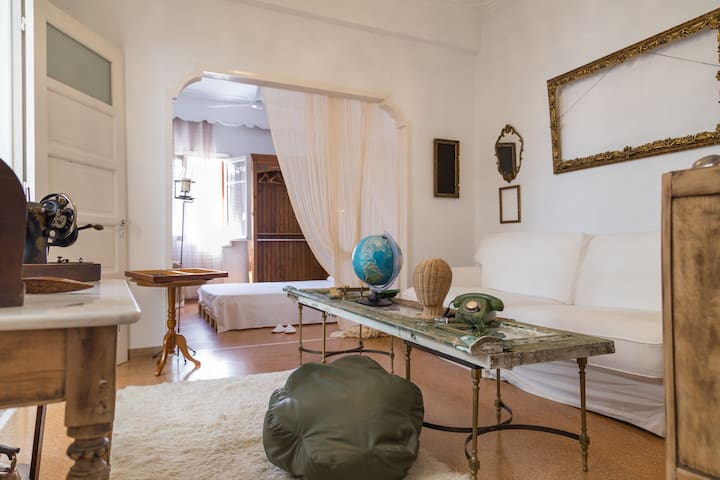 Vintage Grandma's House Indoor Yard - Dafni - Casa