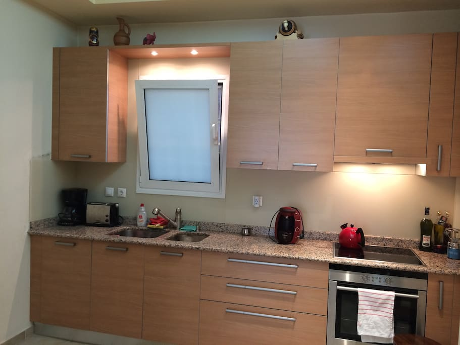 New Kitchen, complete with marble countertop and the latest appliances