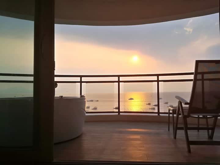 巽寮湾全海景三房.楼下沙滩.阳台浴缸•高铁直达香港