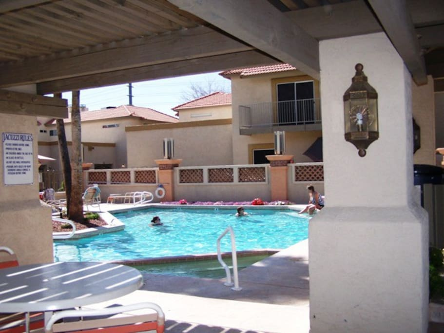 One of our 3 separate pool areas