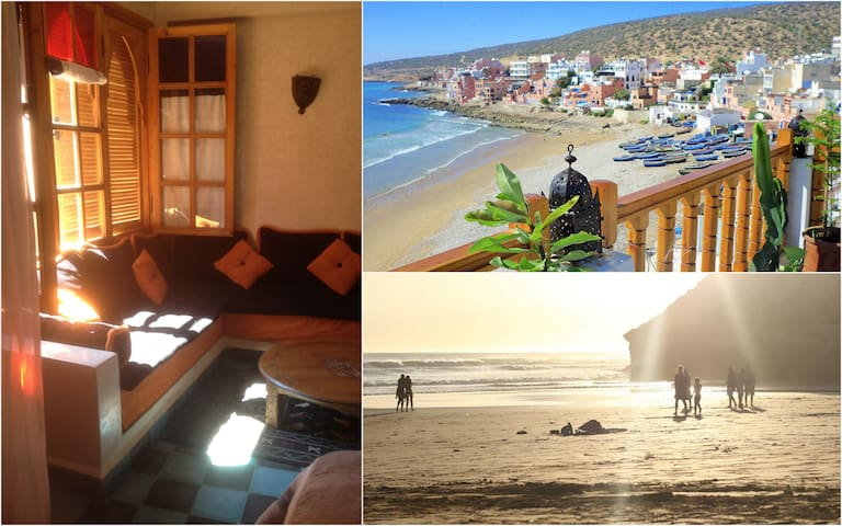 Blue Sea-View Studio with SURF, SUN and the BEACH - Taghazout