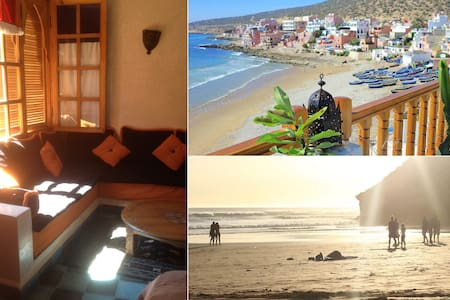 Blue Sea-View Studio with SURF, SUN and the BEACH - Taghazout - Apartemen