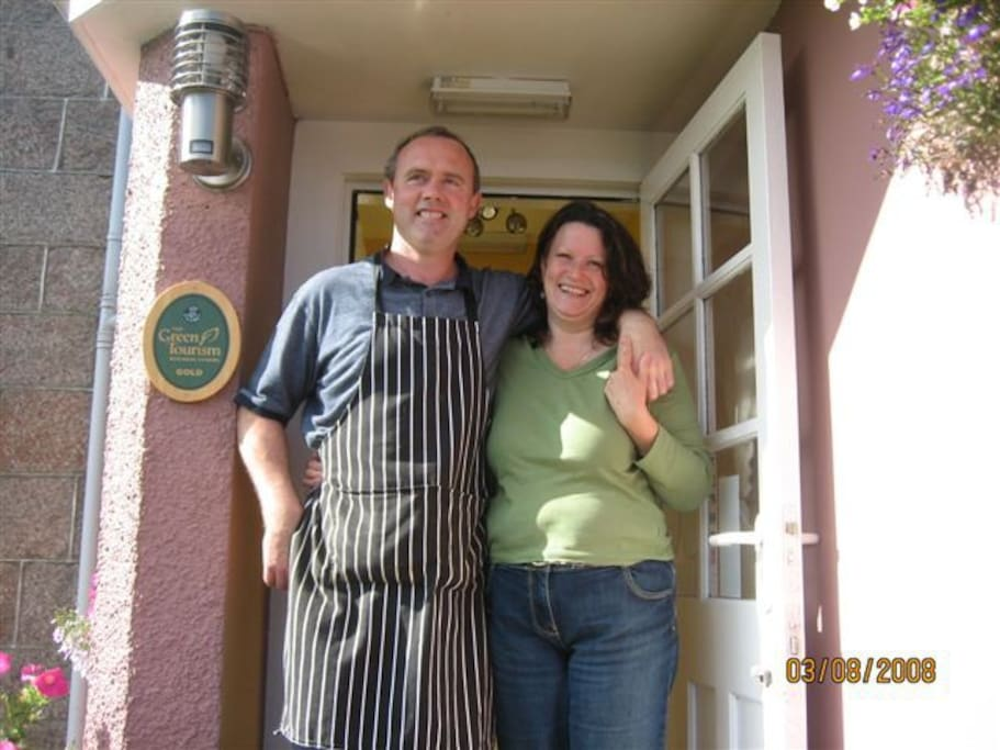 Your hosts - John & Jane Noddings. Looking after guests from around the world since 1990.