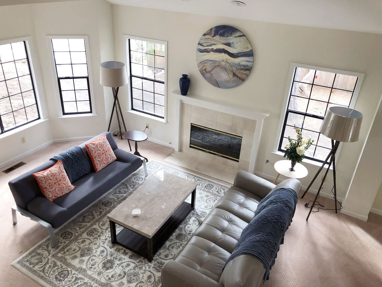 Vaulted spacious Living and Dining Room,     3700 square foot house for your enjoyment
