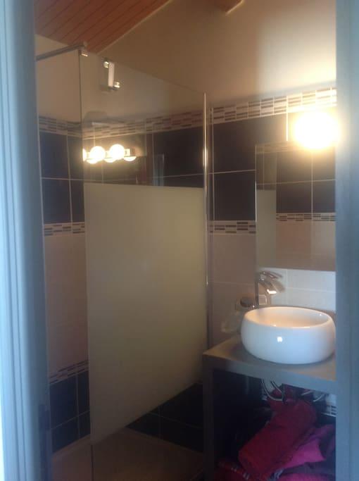 salle de bain douche et wc accès exclusif aux visiteurs