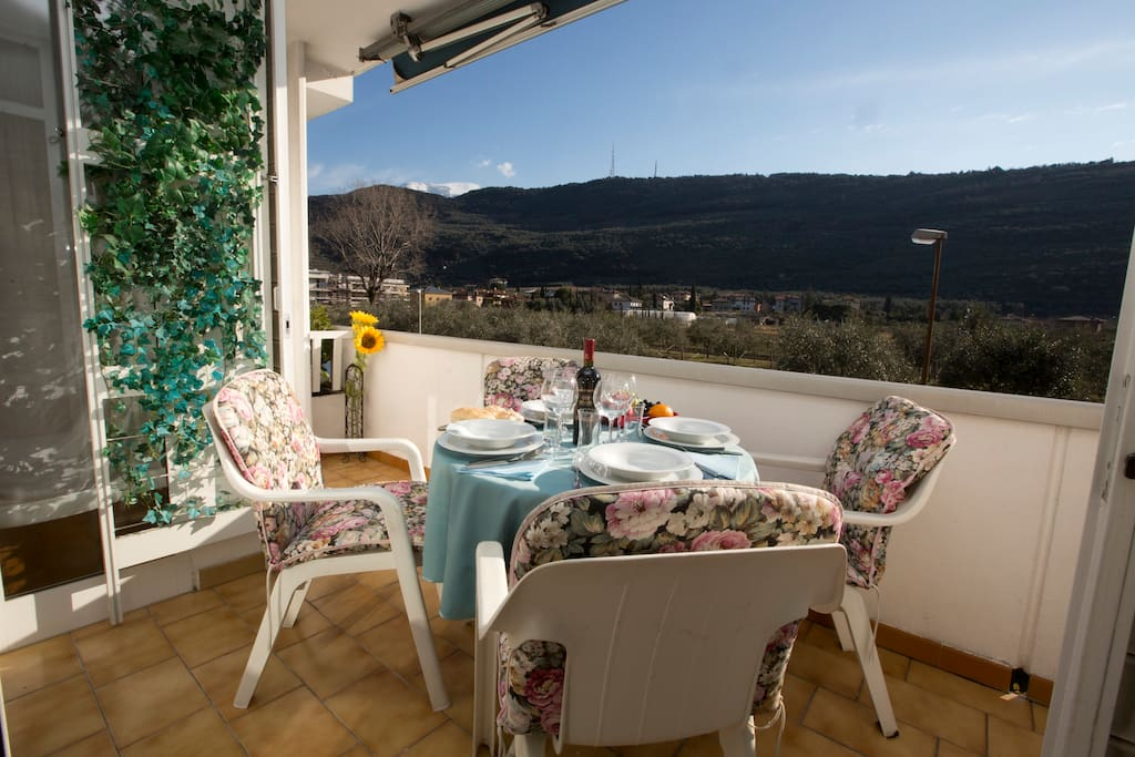 Balcony with wonderful view over the valley and mountains