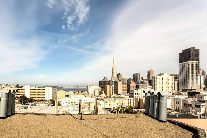 Top Floor Views @ Nexus of Iconic SF Neighborhoods