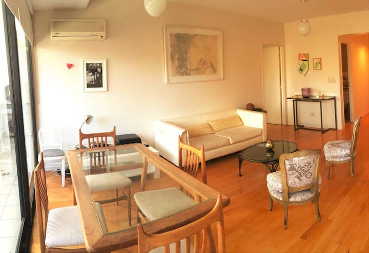 Bright BDR +Living Room, in Palermo Hollywood
