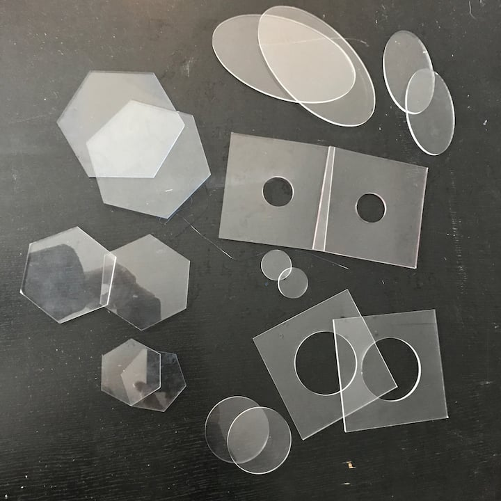 Perspex Itajime boards