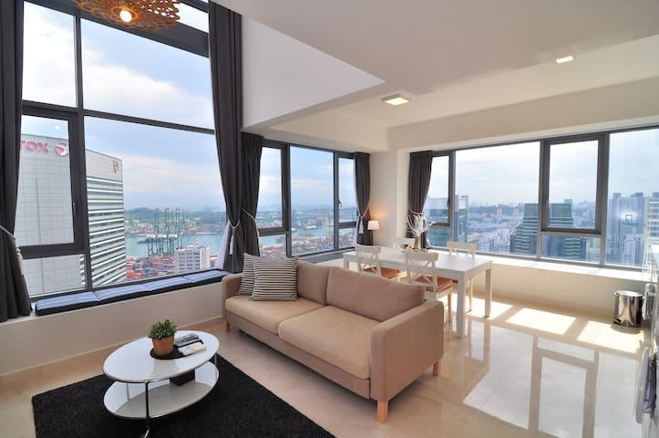 City Center SCENIC High-Floor LOFT, 1-4 Guests#AI - Singapur - Loft