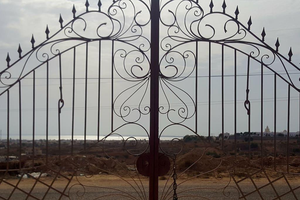 vue mer du terrain de la villa