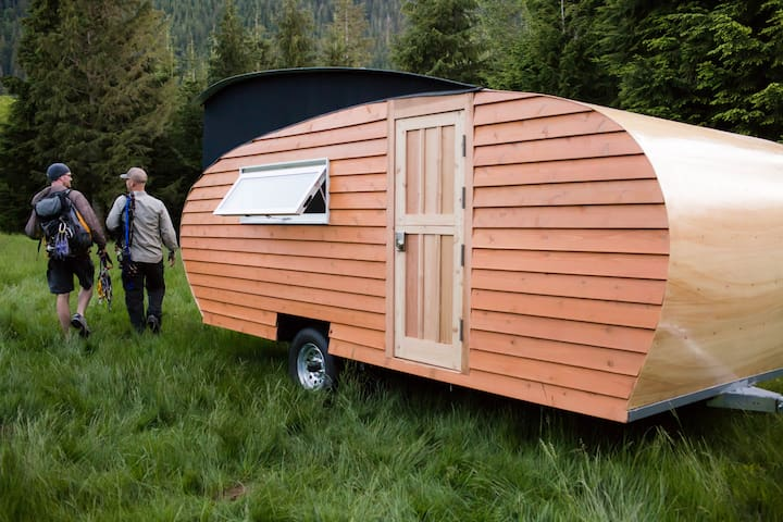 Beautiful, sustainable travel trailer