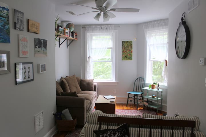 Relax and read in our cozy living room