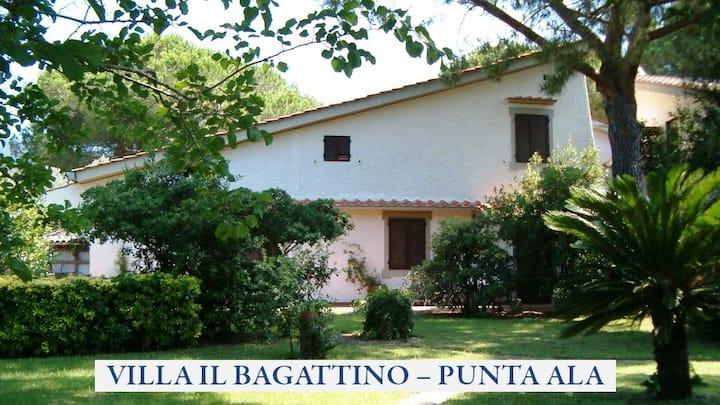 Villa Il Bagattino Punta Ala near beach & services
