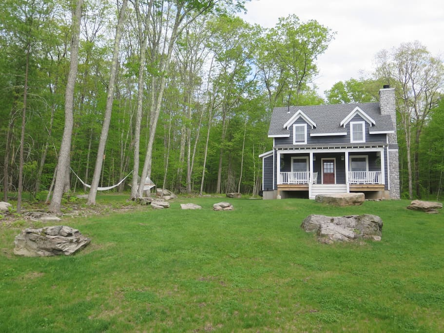 The cottage situated on 5 private acres