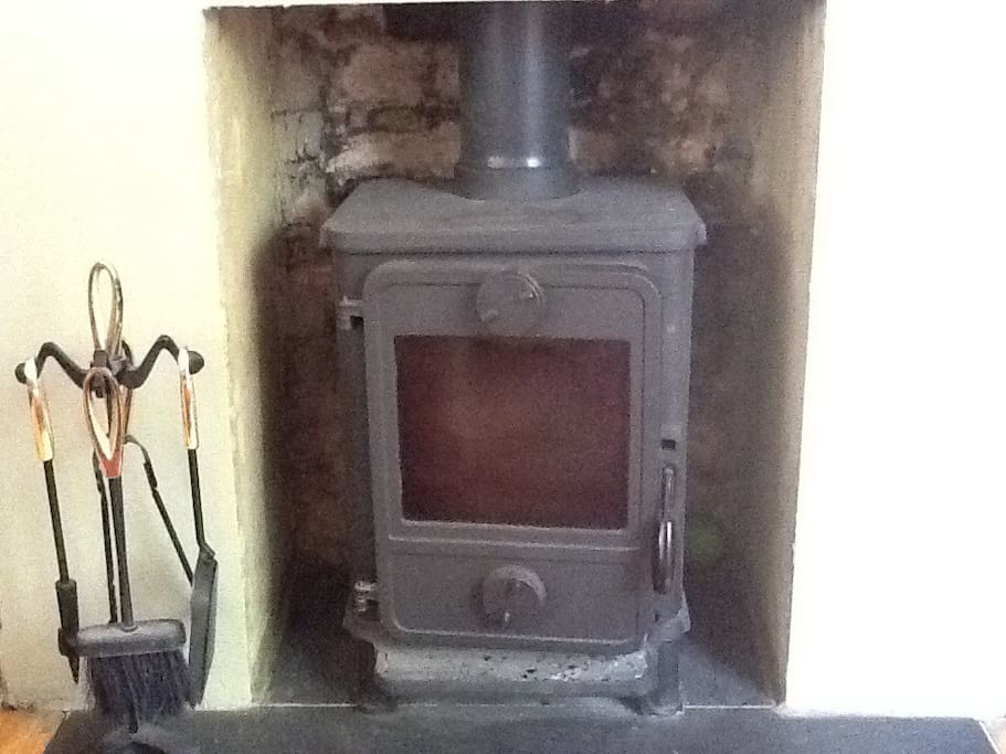 The wood burner! Guests are most welcome to use the wood burner - it transforms the room at night!