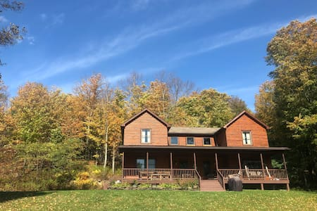 Exceptional Modern Log Home in Cooperstown