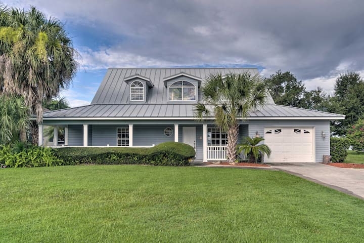 NEW! Waterfront Lake Placid Home w/Dock & Fire Pit