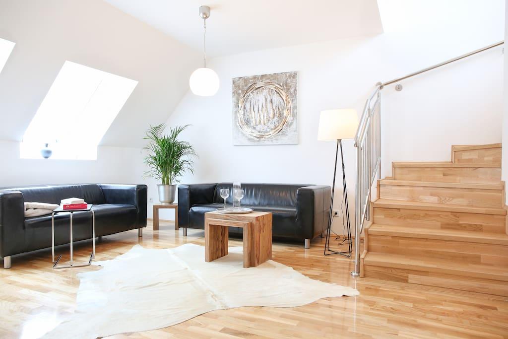 sch ne maisonette terrassenwohnung wohnungen zur miete in wien wien sterreich. Black Bedroom Furniture Sets. Home Design Ideas
