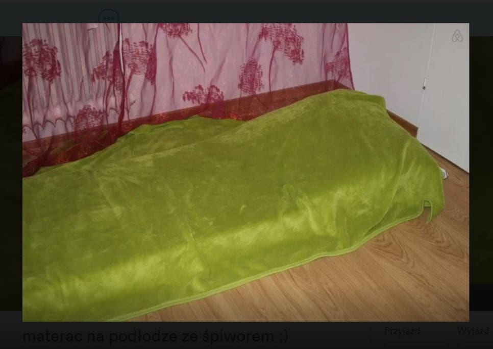 Foam mattress for second person with a sleeping bag