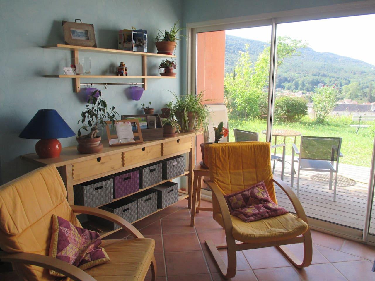 Salon privé et terrasse
