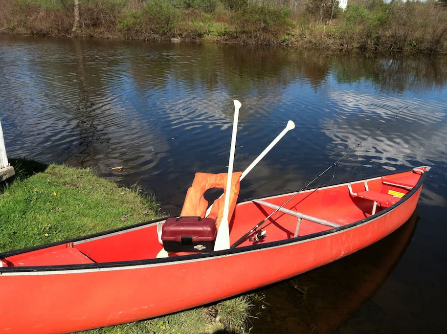 Use of canoe comes with rental