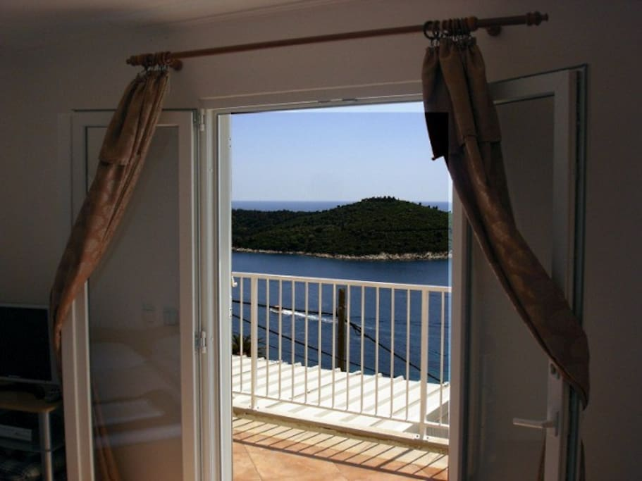view from the  room Nr.3  on island Lokrum