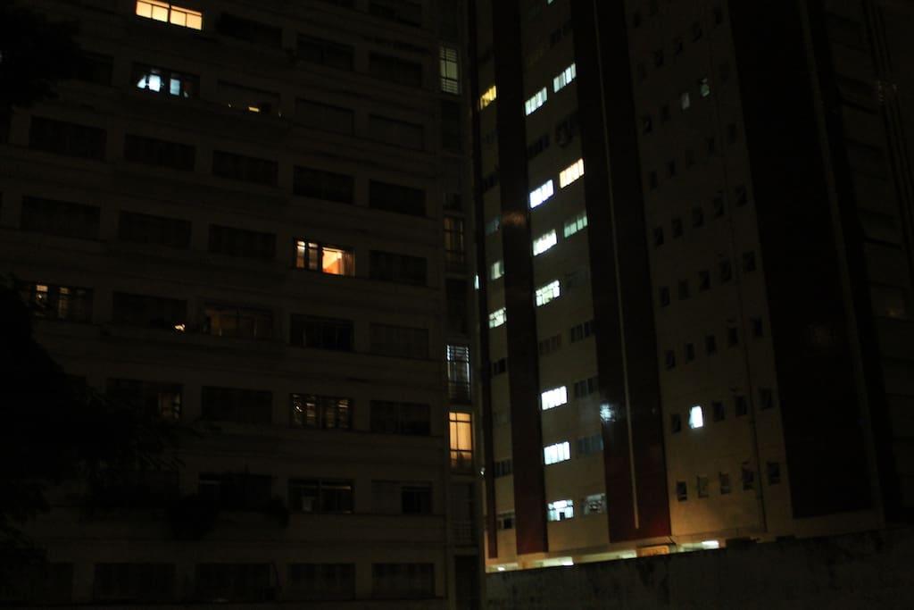 Vista da janela da sala.