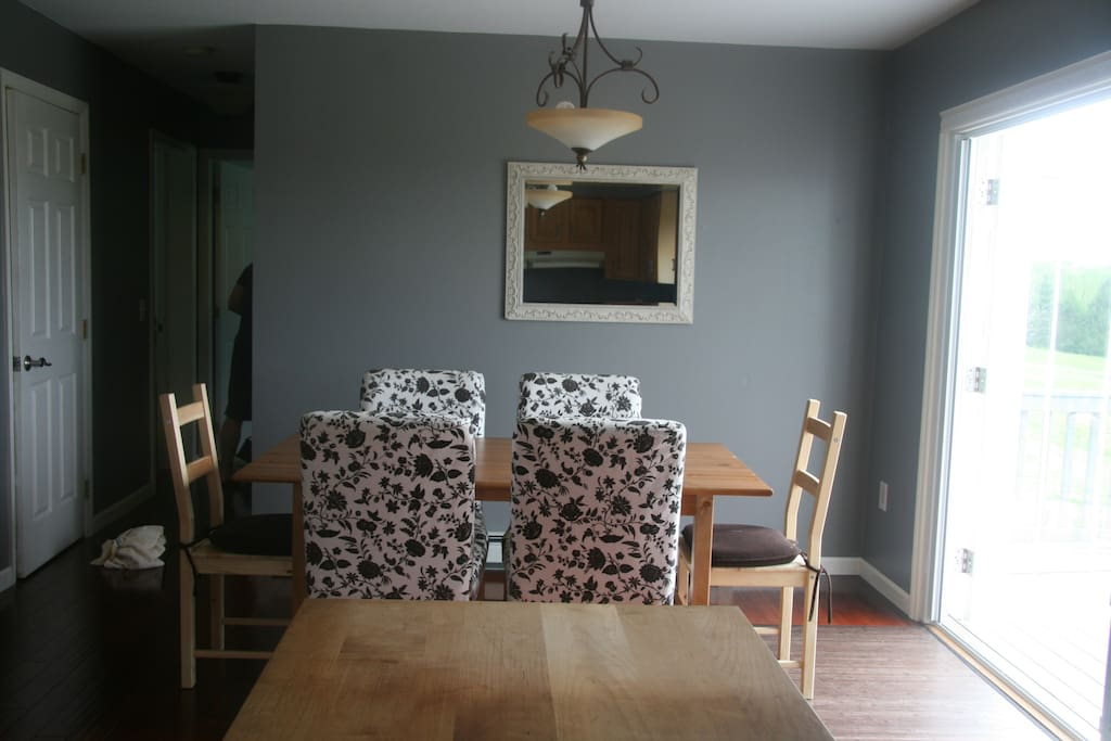 Dining area. Table extends to seat 10 people.