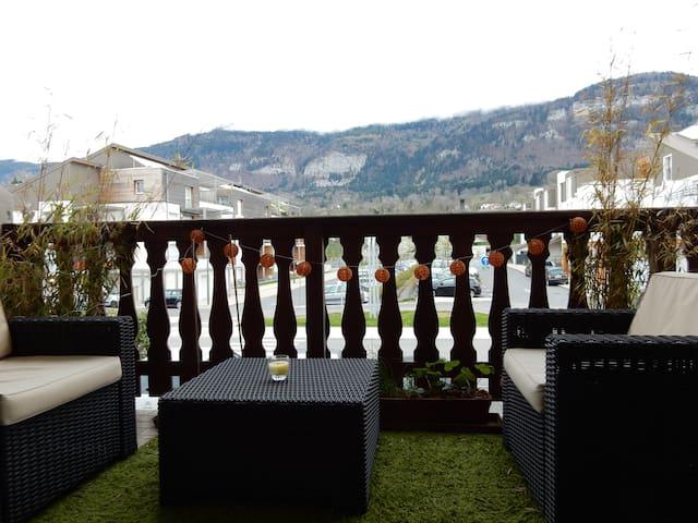 Appartement T2 vue Salève sur l'axe Genève-Annecy - Beaumont - Lejlighed