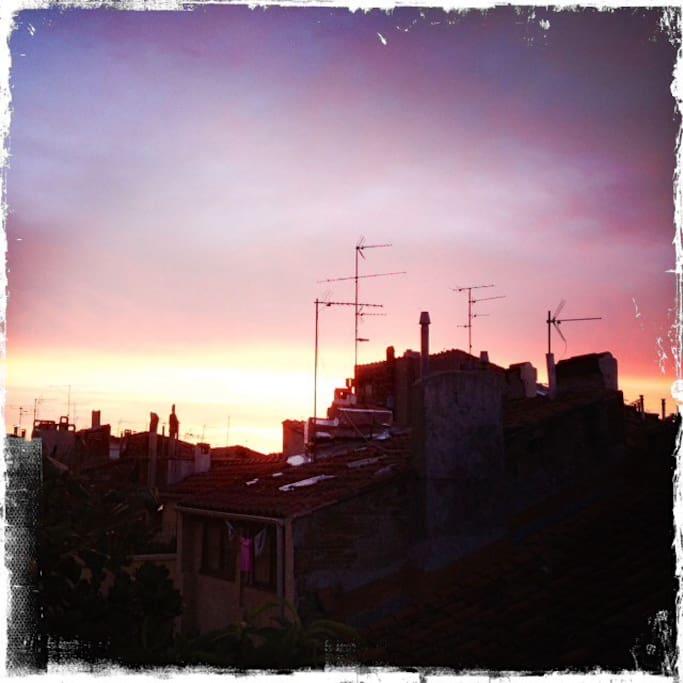 Raising sun ! Superbe levée de soleil !
