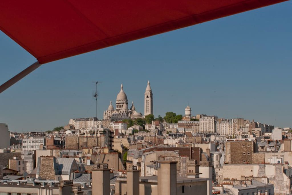 View West Sacré Coeur from Dinning room