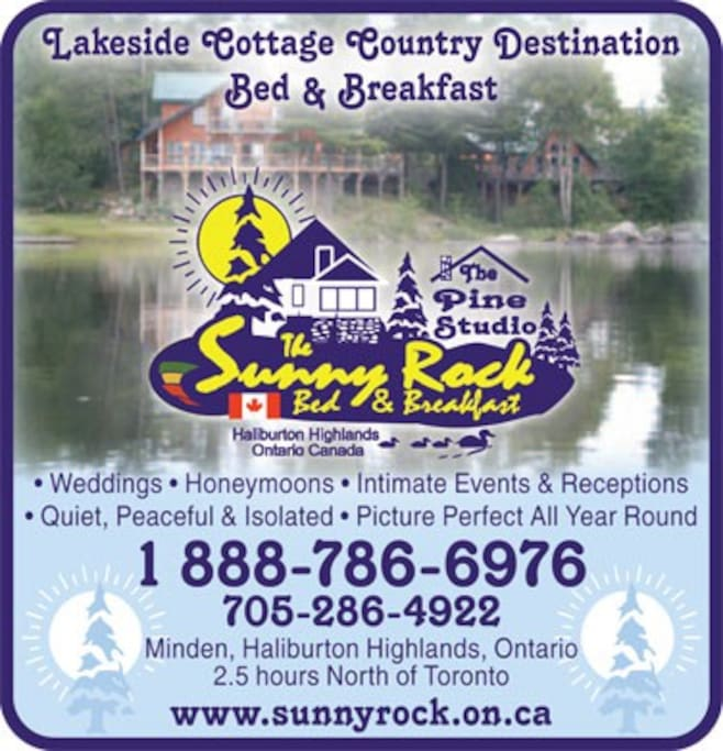 Getaway alone or bring your friends to Haliburton Highlands Ontario